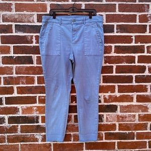 3for$30 Loft size 14 blue raw edge pant